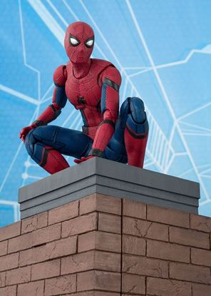 Picture of Spider-Man Homecoming Figura S.H. Figuarts Spider-Man & Tamashii Option Act Wall 15 cm
