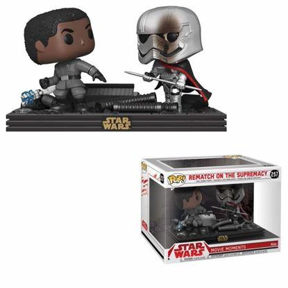 Picture of Star Wars Pack de 2 POP! Movie Moments Vinyl Cabezón Finn vs Captain Phasma 9 cm