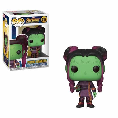 Imagen de Avengers Infinity War Figura POP! Movies Vinyl Young Gamora with Dagger 9 cm.
