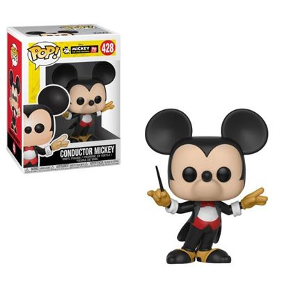 Imagen de Mickey Mouse 90th Anniversary Figura POP! Disney Vinyl Conductor Mickey 9 cm