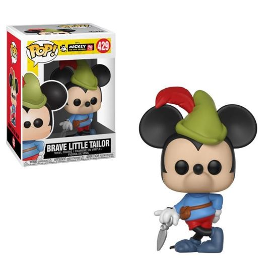 Foto de Mickey Mouse 90th Anniversary Figura POP! Disney Vinyl Brave Little Tailor Mickey 9 cm