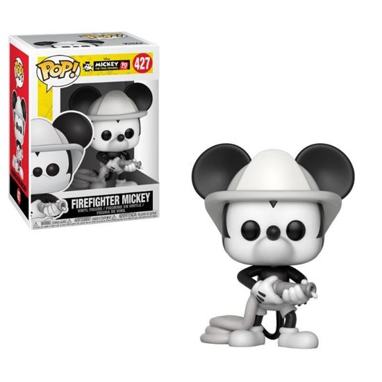 Foto de Mickey Mouse 90th Anniversary Figura POP! Disney Vinyl Firefighter Mickey 9 cm