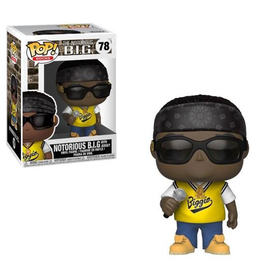 Picture of Notorious B.I.G. Figura POP! Rocks Vinyl Notorious B.I.G. (Jersey) 9 cm