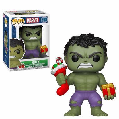 Picture of Marvel Comics POP! Marvel Holiday Navidad Vinyl Cabezón Hulk (Stocking & Plush) 9 cm