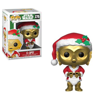 Picture of Star Wars POP! Vinyl Cabezón Holiday Navidad Santa C-3PO 9 cm