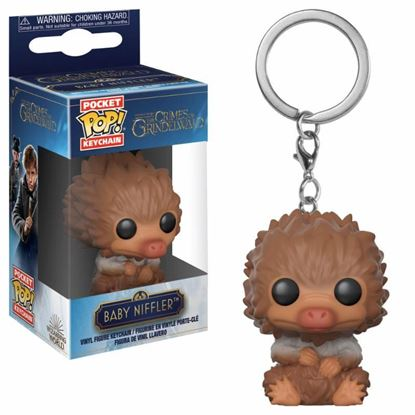 Picture of Animales fantásticos 2 Llavero Pocket POP! Vinyl Baby Niffler (Tan) 4 cm