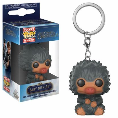 Picture of Animales fantásticos 2 Llavero Pocket POP! Vinyl Baby Niffler (Black) 4 cm