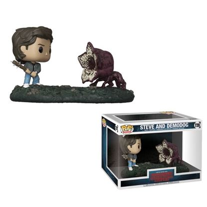 Picture of Stranger Things Pack de 2 POP! Movie Moments Vinyl Figuras Steve & Demodog 9 cm.