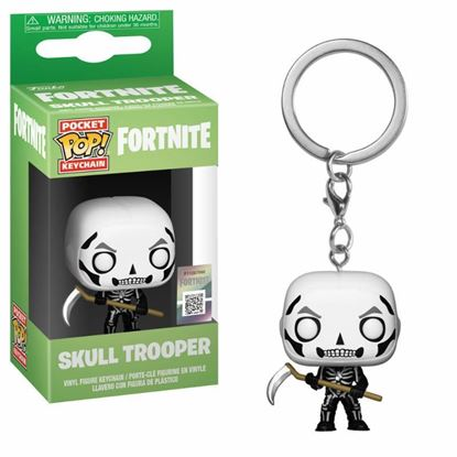 Picture of Fortnite Llavero Pocket POP! Vinyl Skull Trooper 4 cm DISPONIBLE APROX: SEPTIEMBRE 2019