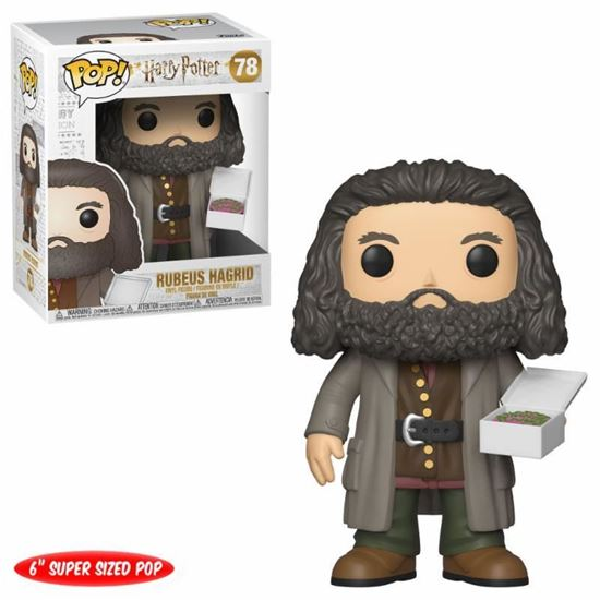 Picture of Harry Potter Super Sized POP! Movies Vinyl Figura Hagrid with Cake 14 cm.