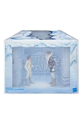 Picture of Star Wars Episode V Black Series Figuras 2018 Leia & Han (Hoth) Convention Exclusive 15 cm