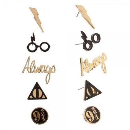 Imagen de Set 5 Pares de Pendientes - Harry Potter