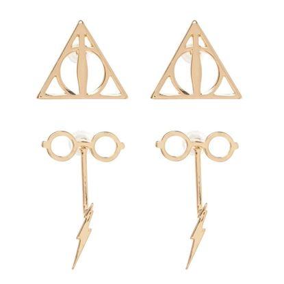 Imagen de Set 2 Pares de Pendientes - Harry Potter
