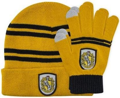Picture of Set de Gorro y Guantes Táctiles Hufflepuff - Harry Potter