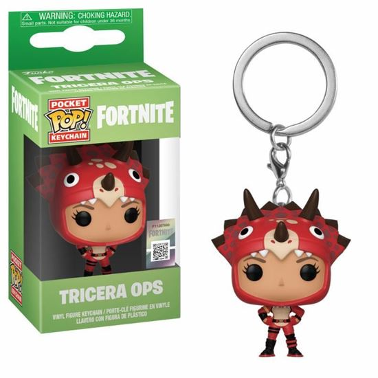 Picture of Fortnite Llavero Pocket POP! Vinyl Tricera Ops 4 cm