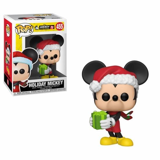 Picture of Mickey Mouse 90th Anniversary Disney POP! Figura Vinyl Holiday Mickey 9 cm.