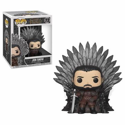 Picture of Juego de Tronos POP! Deluxe Vinyl Figura Jon Snow on Iron Throne 15 cm.