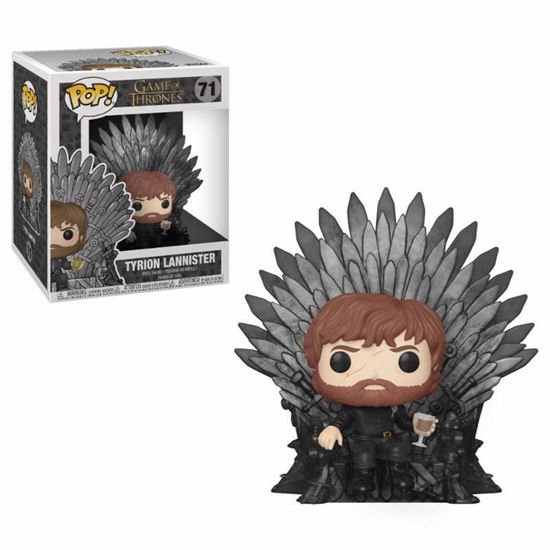 Foto de Juego de Tronos POP! Deluxe Vinyl Figura Tyrion Sitting on Iron Throne 15 cm