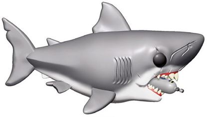 Picture of Tiburón Figura Oversized POP! Movies Vinyl Jaws with Diving Tank 15 cm