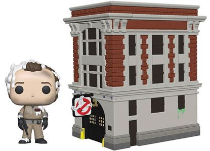 Picture of Los Cazafantasmas POP! Town Vinyl Figura Dr. Peter Venkman & House 9 cm.