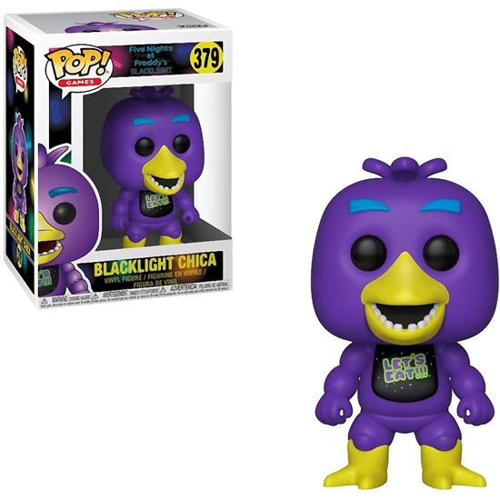 Picture of Five Nights at Freddy's Blacklight POP! Games Vinyl Figura Blacklight Chica 9 cm