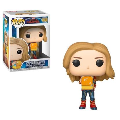 Picture of Captain Marvel POP! Marvel Vinyl Cabezón Captain Marvel w/Lunch Box 9 cm.