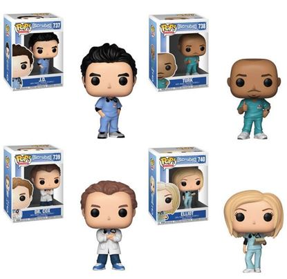 Picture of Pack 4 figuras POP! Scrubs 9 cm