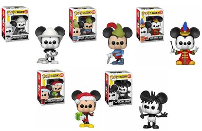 Picture of Pack 5 figuras POP! Mickey Mouse 90th Anniversary 9 cm