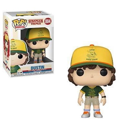 Picture of Stranger Things POP! TV Vinyl Figura Dustin (At Camp) 9 cm.