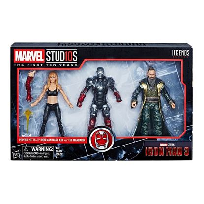 Picture of Marvel Legends Pack de 3 Figuras Pepper, Mark XXII & Mandarin 15 cm