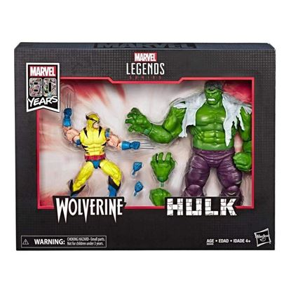 Picture of Marvel Legends Pack de 2 Figuras Wolverine & Hulk 80 Aniversario 15 cm