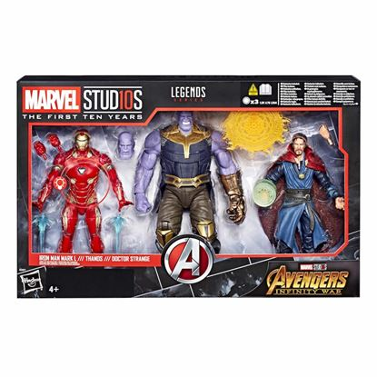 Picture of Marvel Legends Pack de 3 Figuras Iron Man MK L, Thanos & Dr. Strange 15 cm