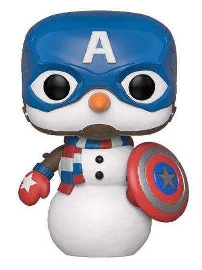 Picture of Marvel Holiday Figura POP! Marvel Vinyl Captain America 9 cm