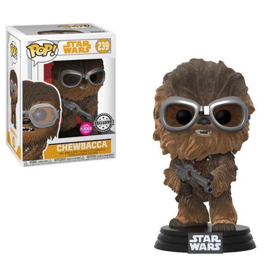 Picture of Star Wars Solo Figura POP! Movies Vinyl Cabezón Chewie W/Goggles (Flocked) 9 cm