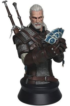 Picture of Witcher 3 Wild Hunt Busto Geralt Playing Gwent 23 cm