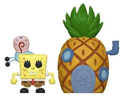 Picture of Bob Esponja POP! Town Vinyl Figura SpongeBob & Pineapple 9 cm