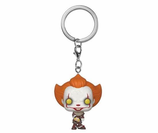 Picture of Stephen King's It 2 Llavero Pocket POP! Vinyl Pennywise w/ Beaver Hat 4 cm.