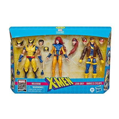 Picture of Marvel Legends 80 Aniversario Pack de 3 Figuras X-Men Wolverine, Jean Grey & Cyclops 15 cm