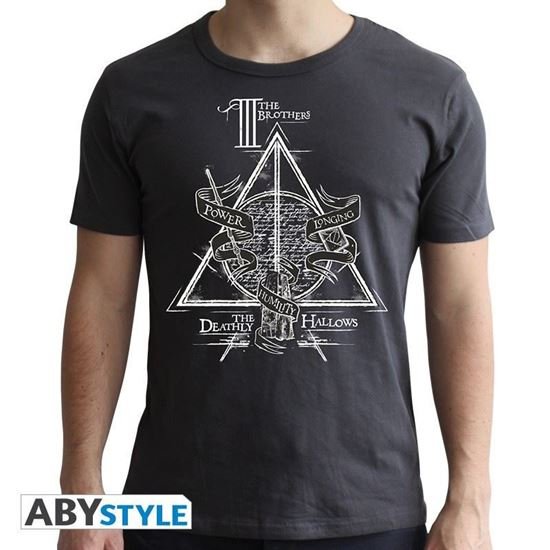 Picture of Camiseta Unisex Reliquias de la Muerte Negra Talla XL - Harry Potter