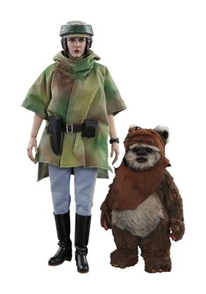 Picture of Star Wars Episode VI Pack Figuras Movie Masterpiece 1/6 Leia Endor 27 cm y Wicket 15 cm