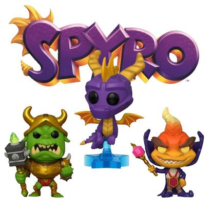 Picture of Pack 3  figuras POP! Spyro the Dragon 9 cm.