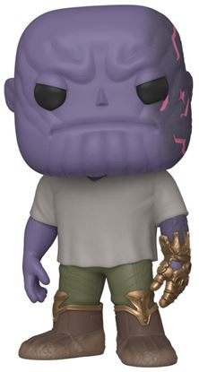 Picture of Avengers: Endgame POP! Movies Vinyl Figura Casual Thanos w/Gauntlet 9 cm
