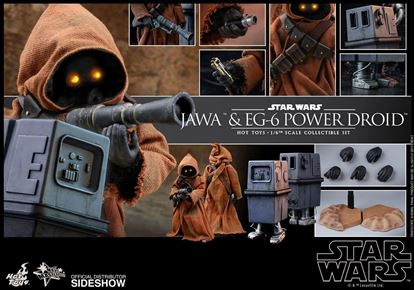 Picture of Star Wars Episode IV Pack de 2 Figuras Movie Masterpiece 1/6 Jawa & EG-6 Power Droid 18-21 cm Figuras Star Wars. RESERVA