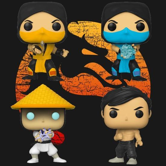 Picture of Pack 4 Figuras POP! Mortal Kombat 9 cm. DISPONIBLE APROX: ABRIL 2020
