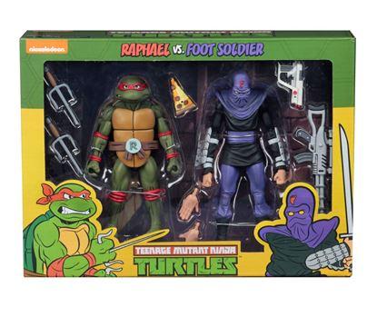 Picture of Tortugas Ninja Pack de 2 Figuras Raphael vs Foot Soldier 18 cm