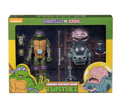 Picture of Tortugas Ninja Pack de 2 Figuras Donatello vs Krang in Bubble Walker 18 cm