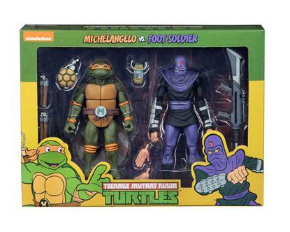 Picture of Tortugas Ninja Pack de 2 Figuras Michelangelo vs Foot Soldier 18 cm