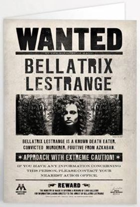 Picture of Tarjeta de Felicitación Lenticular Bellatrix Lestrange - Harry Potter