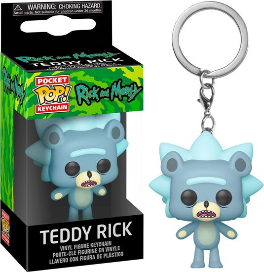Picture of Rick & Morty Llavero Pocket POP! Vinyl Teddy Rick 4 cm. DISPONIBLE APROX: MARZO 2020