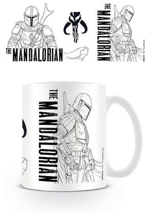 Picture of Star Wars The Mandalorian Taza Line Art